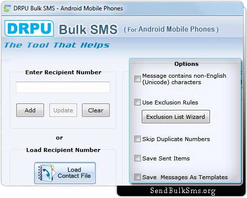 Bulk SMS Software for Android Mobiles screenshot