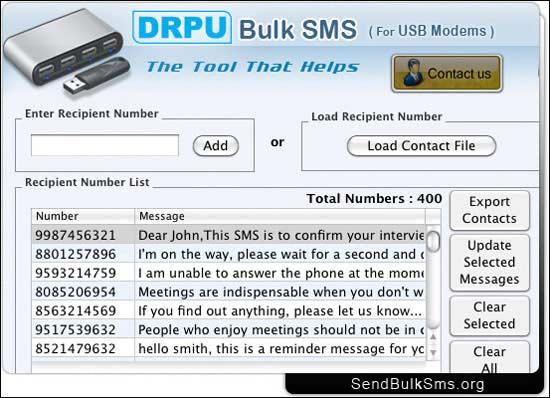 Send Bulk SMS Modem Mac 8.2.1.0 full